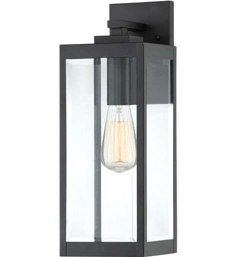 Mcdonough Wall Lanterns Within Well Liked Quoizel – Wvr8406ek – Westover Earth Black 17 Inch Outdoor (View 2 of 15)