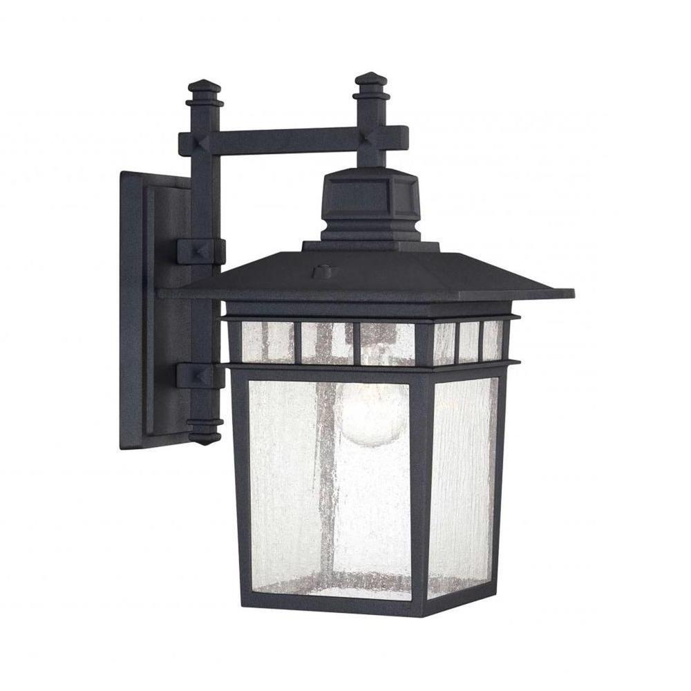 Merild Textured Black Wall Lanterns Inside Preferred Westinghouse Albright Textured Black 1 Light Outdoor (View 14 of 15)
