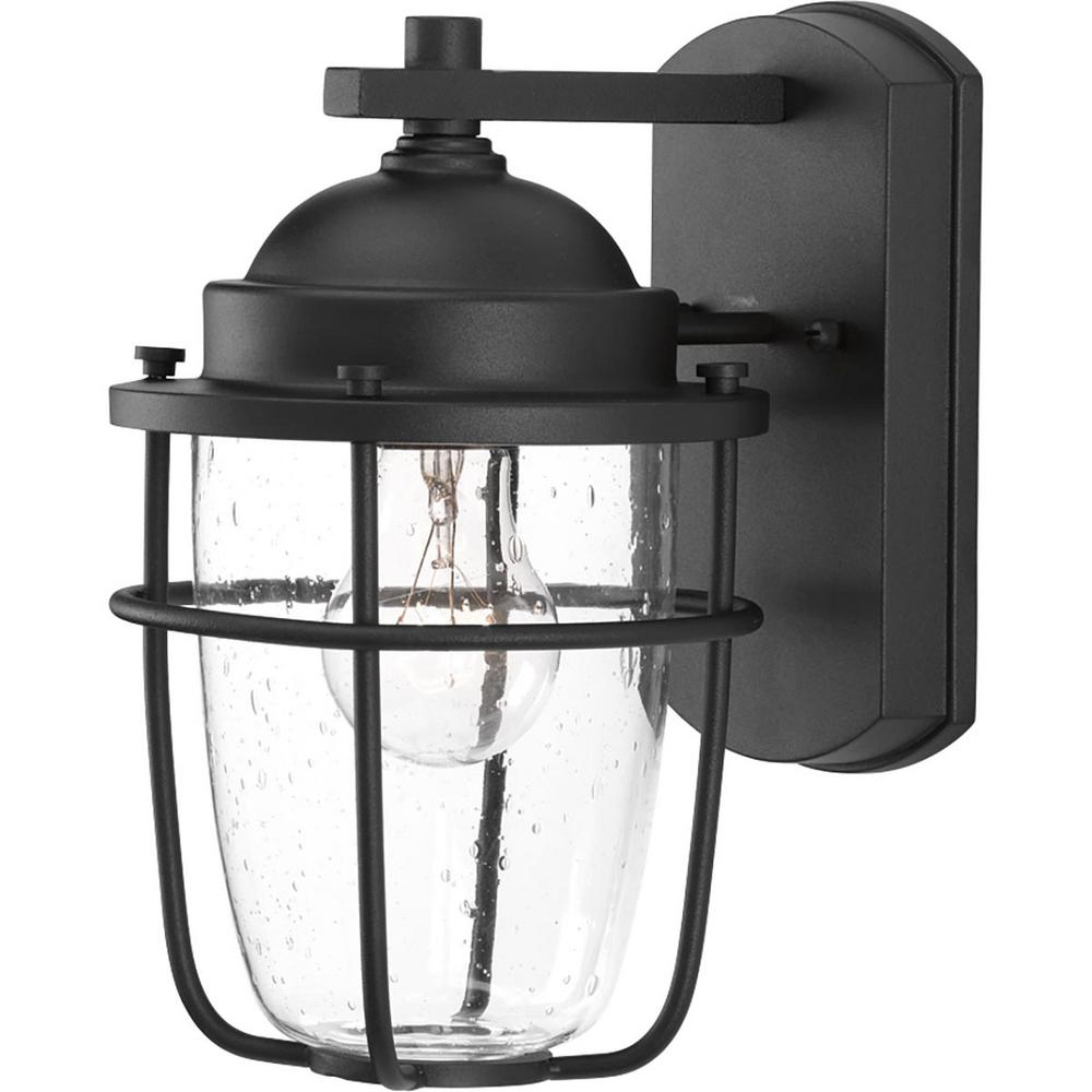 Merild Textured Black Wall Lanterns Throughout Most Recent Progress Lighting Holcombe Collection 1 Light Textured (View 8 of 15)