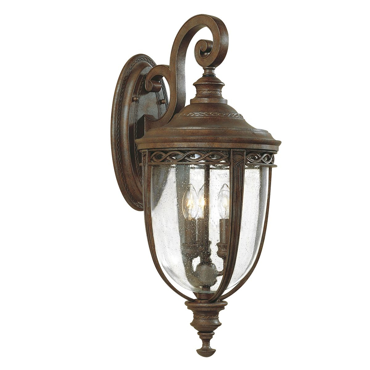 Meunier Glass Outdoor Wall Lanterns Regarding Newest English Bridle Large Outdoor Wall Lantern In A Bronze (View 2 of 15)