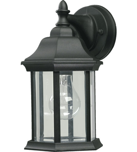 Most Current Bellefield Black 15'' H Outdoor Wall Lanterns For Quorum 787 15 Fort Worth 1 Light 11 Inch Black Outdoor (View 8 of 15)