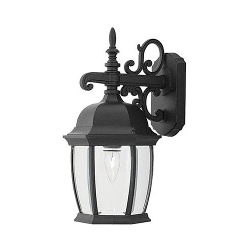 Most Current Designers Fountain Tiverton 16 In H Black Medium Base (e In Feuerstein Black 16'' H Outdoor Wall Lanterns (View 7 of 15)