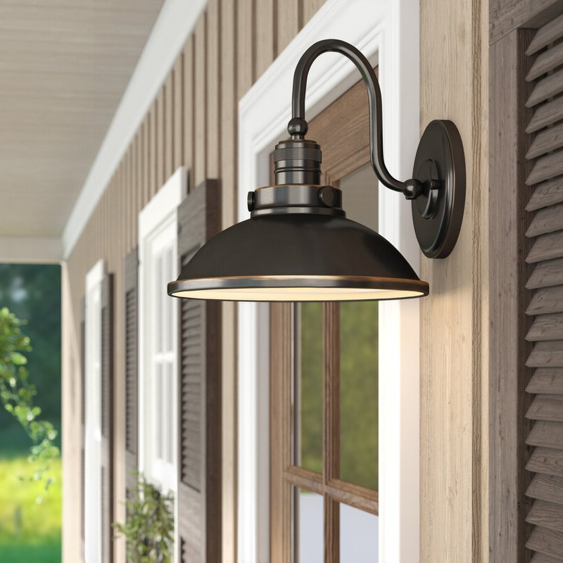 Most Popular Arryonna Outdoor Barn Lights For Laurel Foundry Modern Farmhouse Fannie 1 Light Outdoor (View 10 of 15)