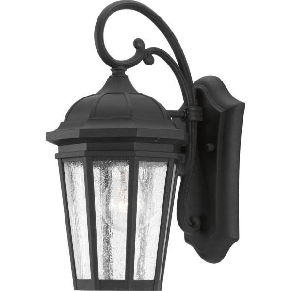 Most Popular Feuerstein Black 16'' H Outdoor Wall Lanterns For Progress Lighting Maison Collection 1 Light Black  (View 9 of 15)