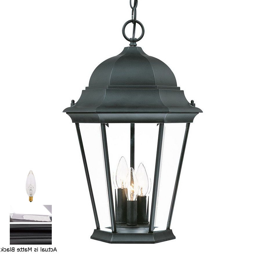 Most Popular Shop Acclaim Lighting Richmond 19.5 In H Black Outdoor Inside Black  (View 7 of 15)