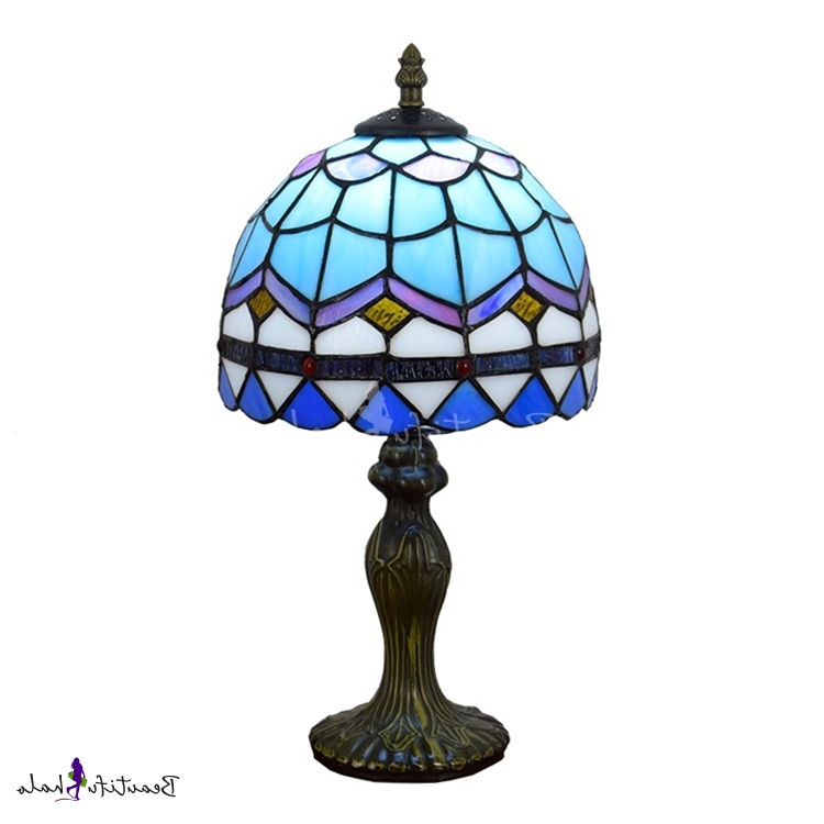 Most Recent Dome Shaped Shade Tiffany Stained Glass Baroque Design 14 With Powell 19'' H Beveled Glass Outdoor Wall Lanterns (View 15 of 15)