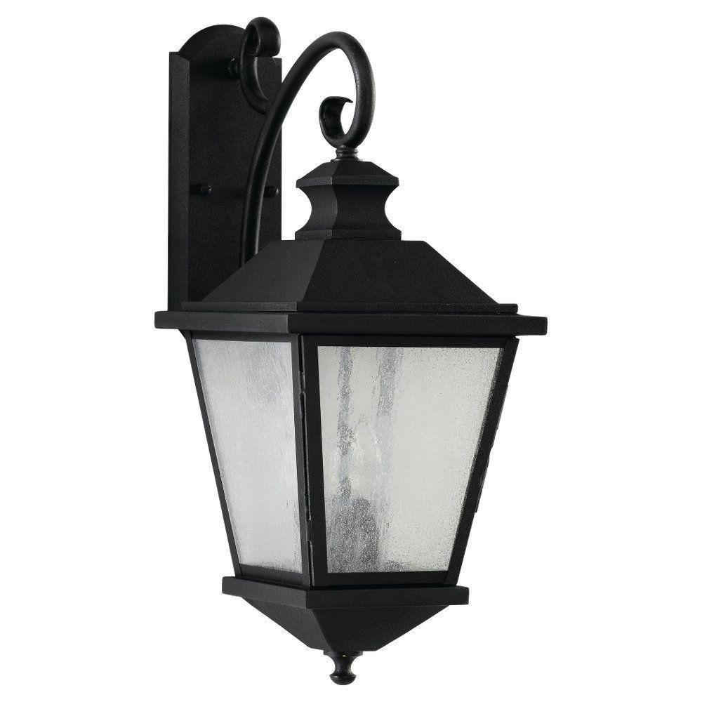 Most Recent Feiss Woodside Hills 3 Light Black Outdoor Wall Lantern Regarding Malak Outdoor Wall Lanterns (View 5 of 15)