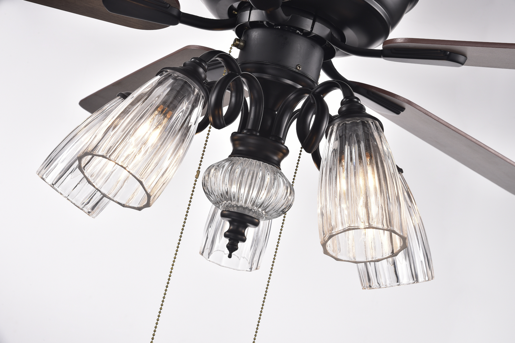 Most Recent Nayen Black 23'' H Wall Lanterns With 52 In Indoor Black Brown Reversible Ceiling Fan With Clear (View 6 of 15)