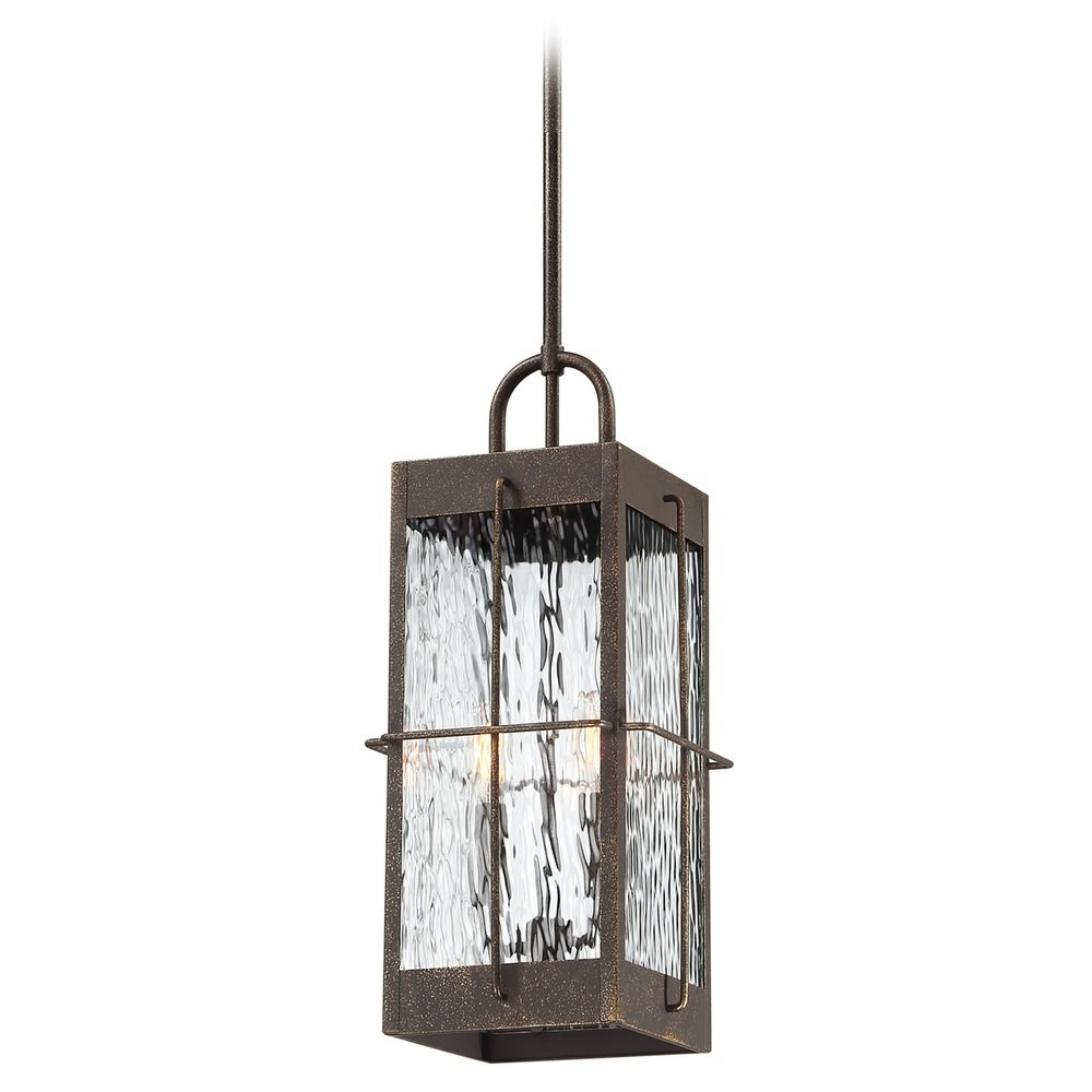 Most Recent Quoizel Ward Gilded Bronze Outdoor Hanging Light With With Tilley Olde Bronze Water Glass Outdoor Wall Lanterns (View 4 of 15)