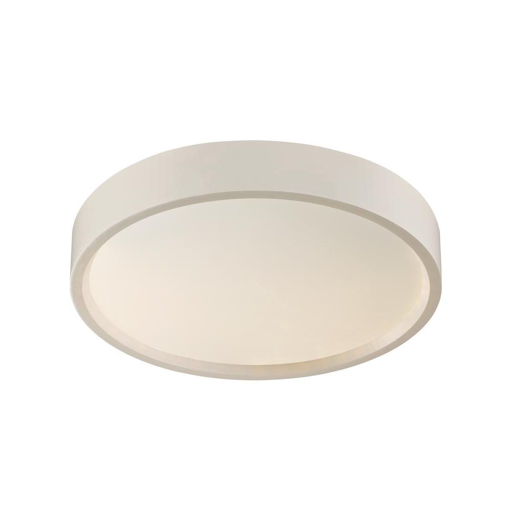 Most Recent Whisnant Black Integrated Led Frosted Glass Outdoor Flush Mount With Unbranded Wilson 13 Watt White Integrated Led Flush Mount (View 2 of 15)