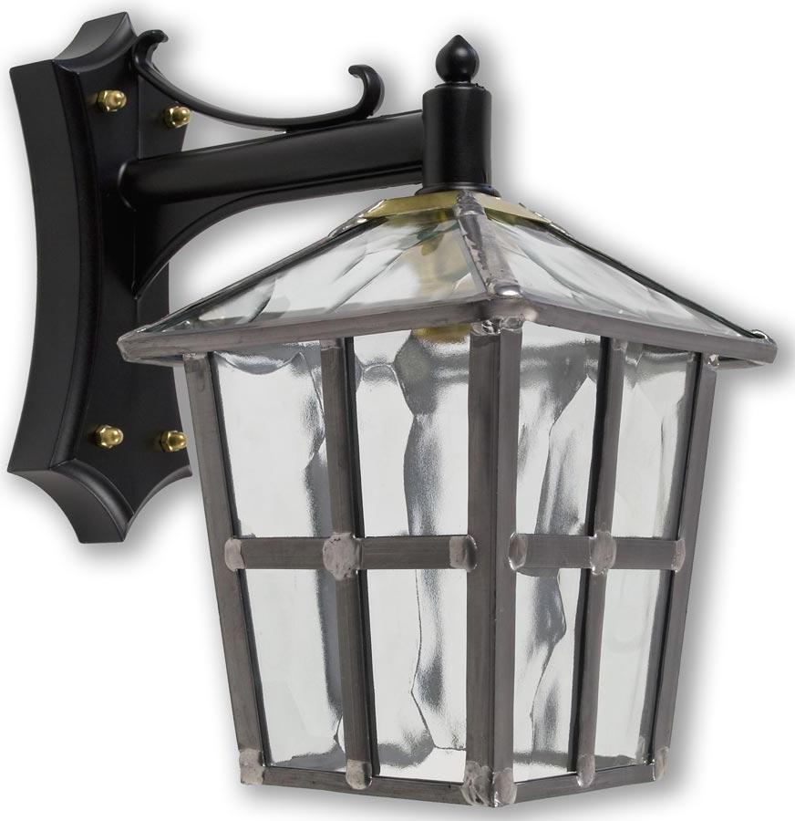 Most Recent York Handmade Clear Rippled Leaded Glass Outdoor Wall Lantern Inside Gillian Beveled Glass Outdoor Wall Lanterns (View 7 of 15)