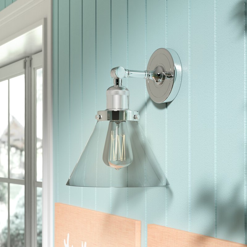 Most Up To Date Breakwater Bay Nealon 1 – Light Polished Chrome Armed Regarding Cantrall 8'' H Outdoor Armed Sconces (View 5 of 15)