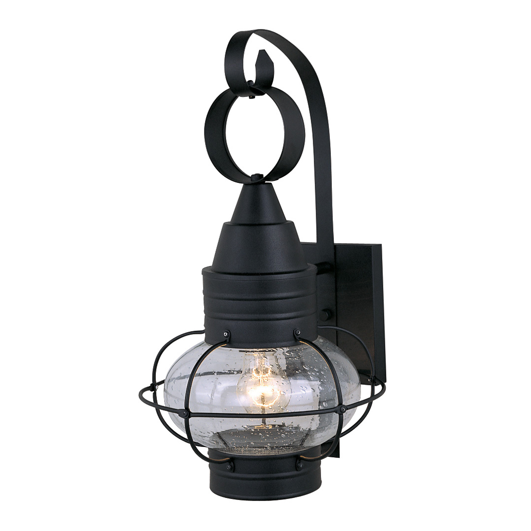Most Up To Date Chatham Black Outdoor Wall Sconce – 10 Inch In Borde Black  (View 11 of 15)