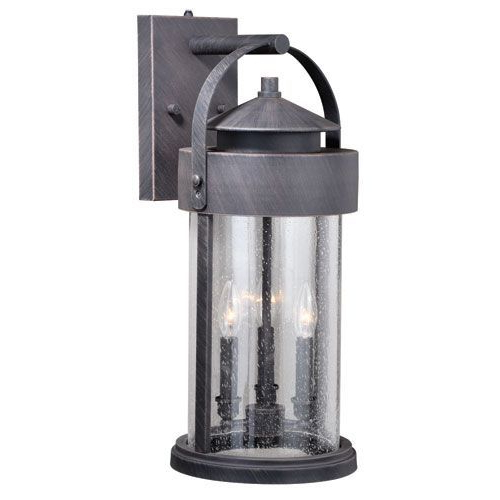 Most Up To Date Cumberland Rust Iron 10 Inch Three Light Outdoor Wall In Clarisa Seeded Glass Outdoor Barn Lights With Dusk To Dawn (View 4 of 15)