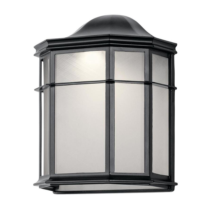 Most Up To Date Kichler Kent 9.75 In H Black Led Outdoor Wall Light At Within Gillett  (View 3 of 15)