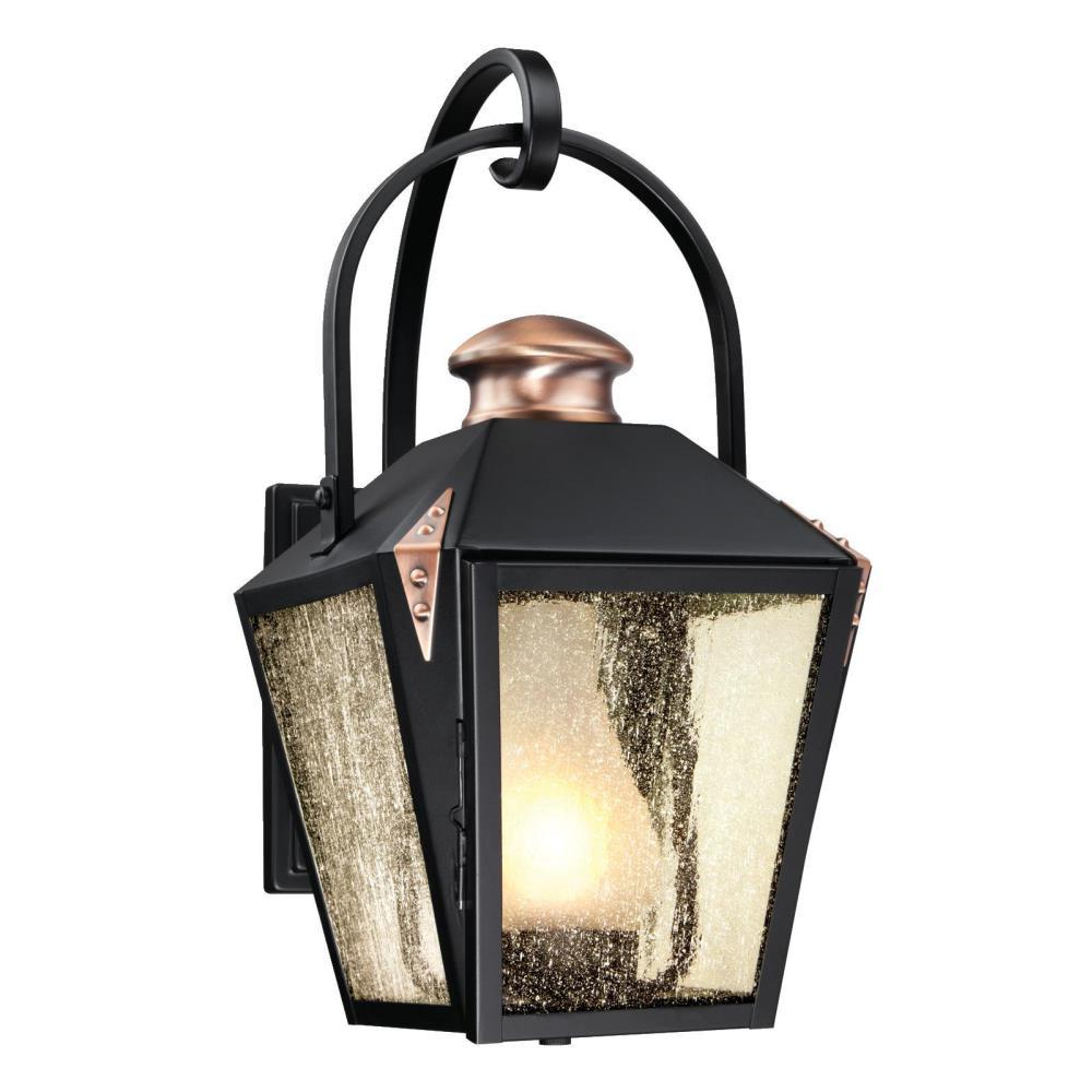 Most Up To Date Westinghouse Valley Forge Matte Black 1 Light Outdoor Wall With Regard To Mccay Matte Black Outdoor Wall Lanterns (View 7 of 15)