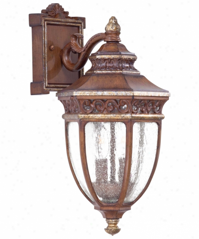 Needham Dark Bronze 17'' H Seeded Glass Outdoor Flush Mount Throughout Most Up To Date Fine Art Lamps 808650 Villa Vista 2 Light Wall Sconce In (View 9 of 15)