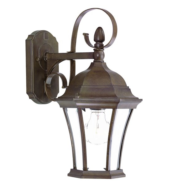Featured Photo of Black 13.4'' H Hammered Glass Outdoor Wall Lanterns