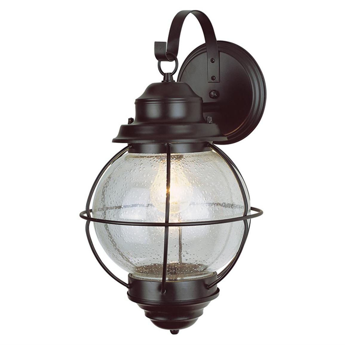 Newest Garneau Black Wall Lanterns Intended For Trans Globe Lighting 1 – Light Outdoor Black Onion Wall (View 8 of 15)