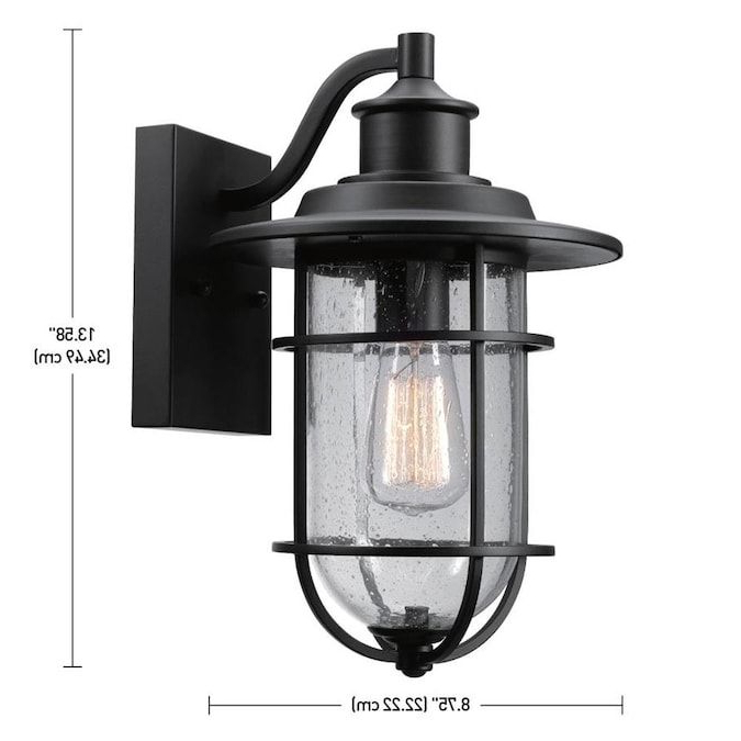 Newest Globe Electric Turner 13.58 In H Black Medium Base (e 26 In Cherryville Black  (View 8 of 15)