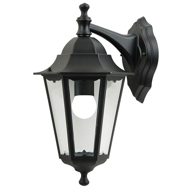 Nordlux Cardiff Hanging Black Outdoor Wall Light (74381003 Regarding Trendy Ciotti Black Outdoor Wall Lanterns (View 7 of 15)