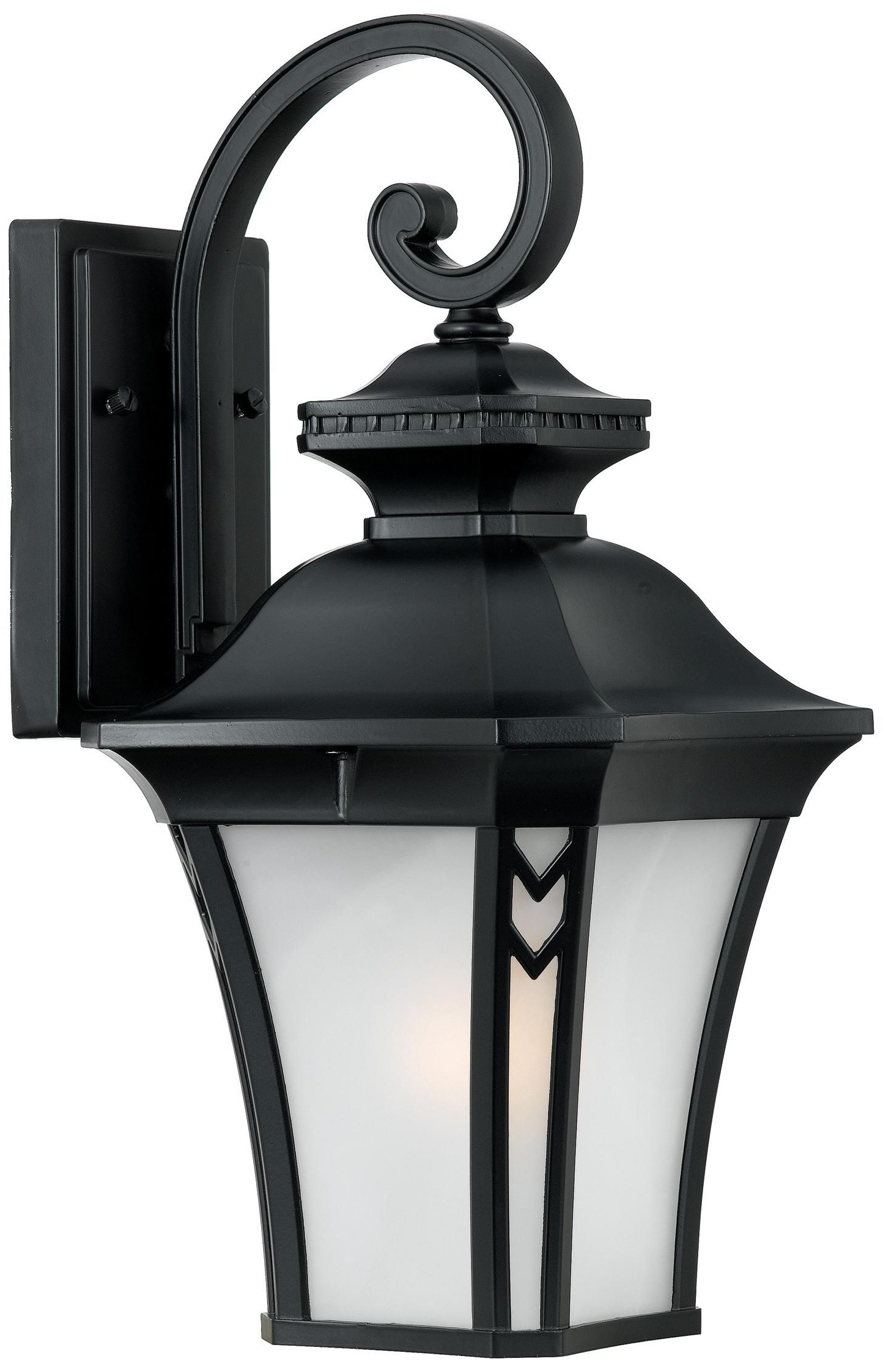 """Norfolk Collection Black 16 1/2"""" High Outdoor Wall Light For Most Up To Date Feuerstein Black 16'' H Outdoor Wall Lanterns (View 12 of 15)"""