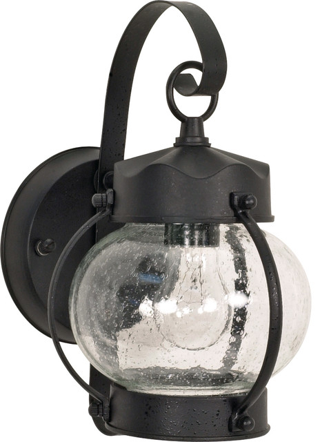 Nuvo 1 Light Incandescent Wall Mount Light Fixture In Recent Anner 18'' H Seeded Glass Outdoor Wall Lanterns (View 9 of 15)