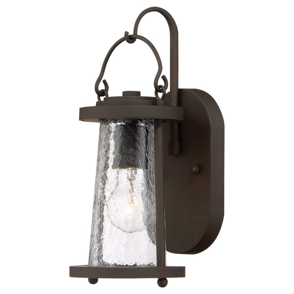 Popular Brierly Oil Rubbed Bronze/black 12'' H Outdoor Wall Lanterns Intended For The Great Outdoorsminka Lavery Bay View 1 Light (View 8 of 15)