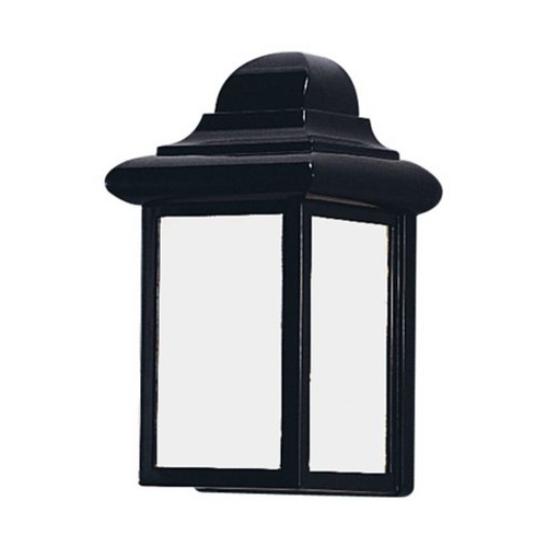 Popular Sea Gull Lighting Mullberry Hill 8.75 In H Black Outdoor Throughout Carner  (View 12 of 15)