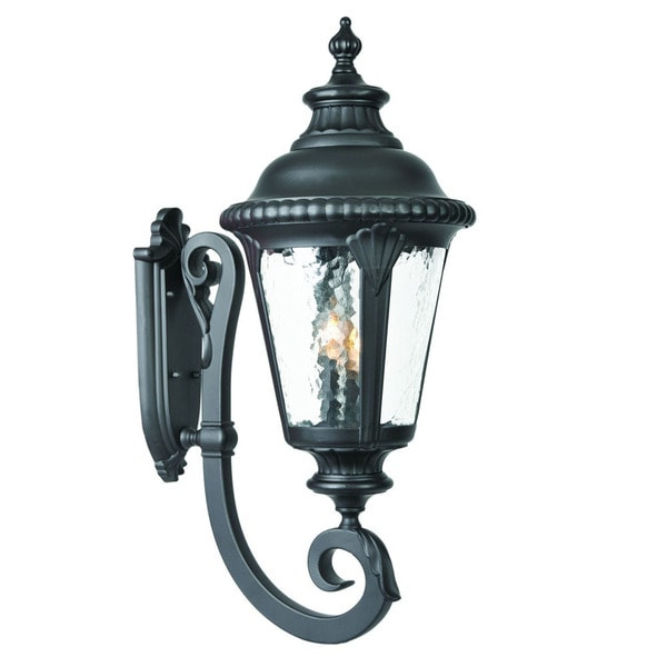 Popular Shop Acclaim Lighting Surrey Collection 3 Light Outdoor Throughout Roden Black 3 Bulb Outdoor Wall Lanterns (View 2 of 15)
