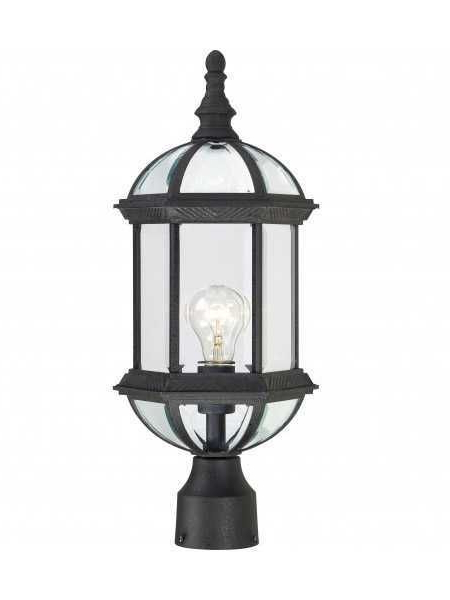 Powell 19'' H Beveled Glass Outdoor Wall Lanterns Inside Well Liked Nuvo Lighting Boxwood 60 4976 1 Light Textured Black (View 6 of 15)