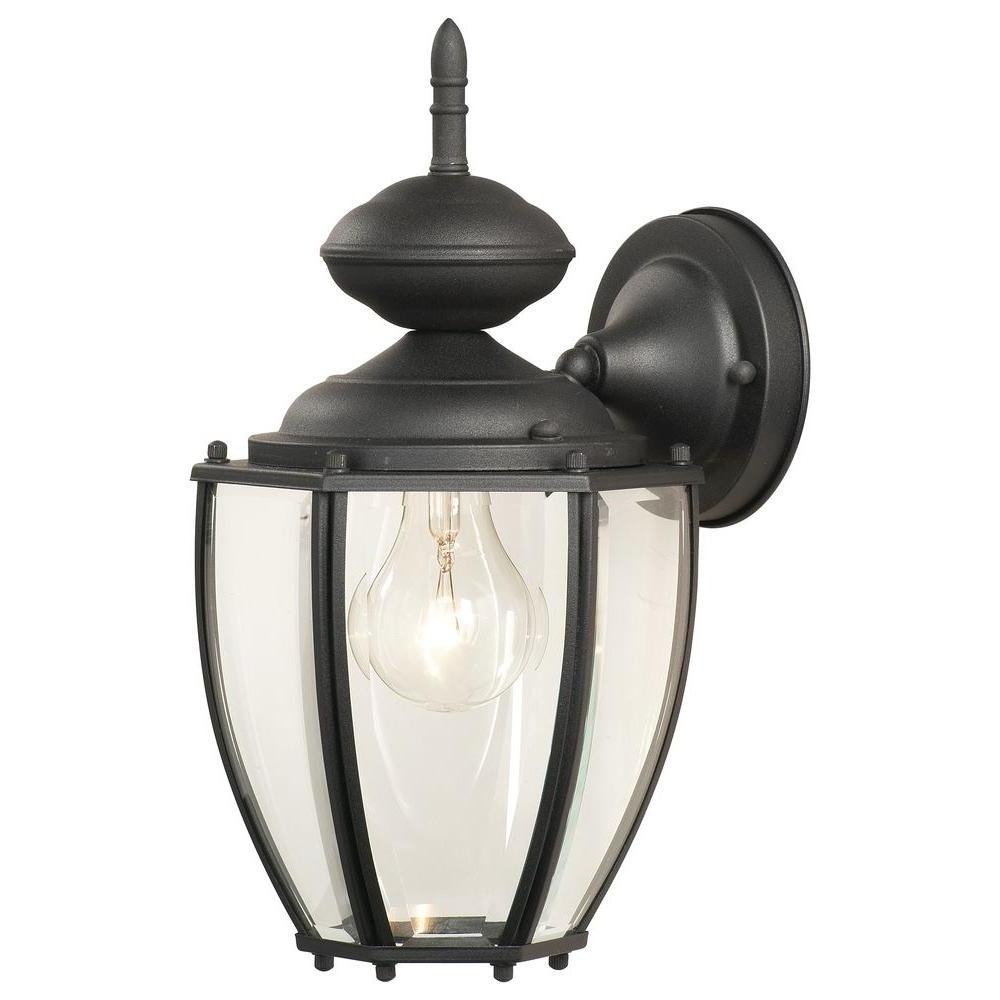 Preferred 1 – Bulb Outdoor Wall Lanterns Regarding Thomas Lighting Park Avenue 1 Light Black Outdoor Wall (View 13 of 15)