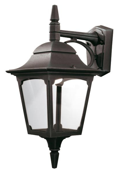 Preferred Ciotti Black Outdoor Wall Lanterns With Regard To Elstead Chapel 1 Light Downward Outdoor Wall Lantern Black (View 4 of 15)