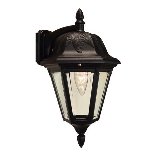 Preferred Feuerstein Black 16'' H Outdoor Wall Lanterns Within Special Lite Floral  (View 4 of 15)
