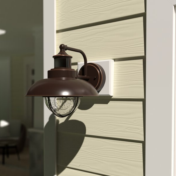 Preferred Ranbir Oil Burnished Bronze Outdoor Barn Lights With Dusk To Dawn With Birch Lane™ Billerica 1 – Bulb Outdoor Barn Light With (View 6 of 15)