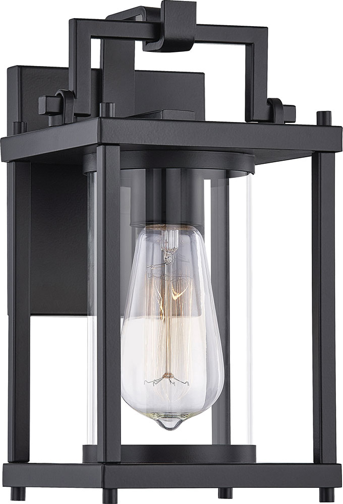 Quoizel Gre8406mbk Garrett Matte Black Outdoor Wall Intended For Most Recent Mccay Matte Black Outdoor Wall Lanterns (View 14 of 15)