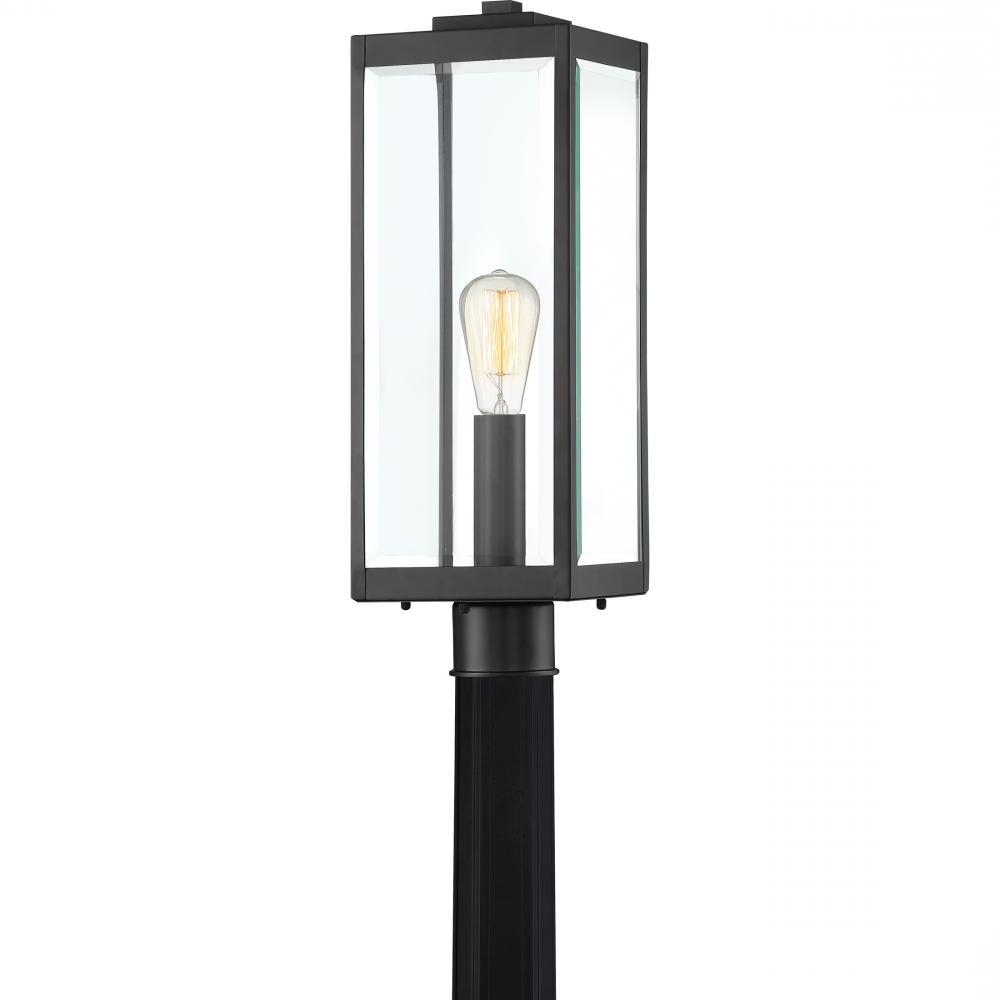 Quoizel Wvr9007ek Westover Industrial Outdoor Post Light For Popular Ainsworth Earth Black Outdoor Wall Lanterns (View 3 of 15)