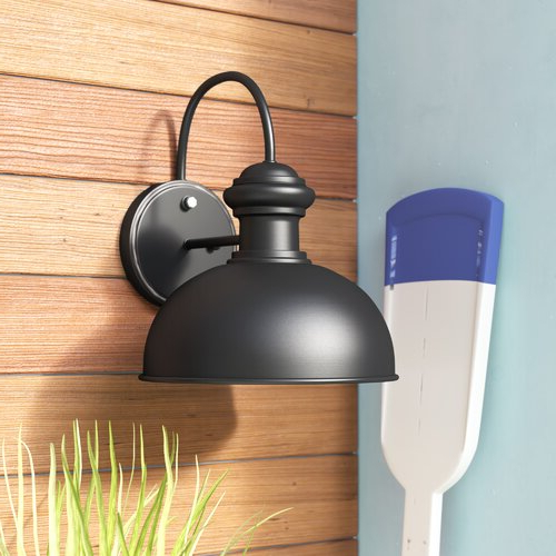 Ranbir Oil Burnished Bronze Outdoor Barn Lights With Dusk To Dawn With Newest Andover Mills™ Harriett  (View 8 of 15)