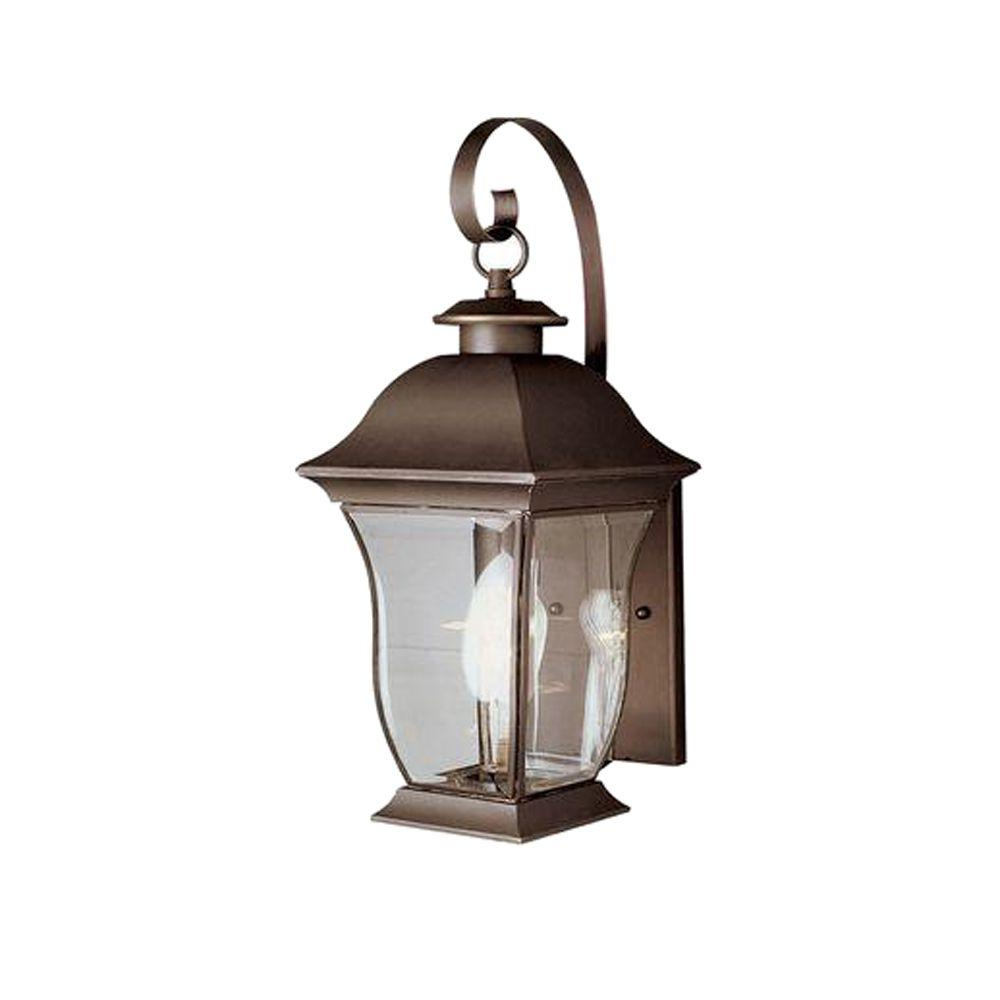 Recent Bel Air Lighting Wall Flower 2 Light Outdoor Weathered With Regard To Carrington Beveled Glass Outdoor Wall Lanterns (View 14 of 15)