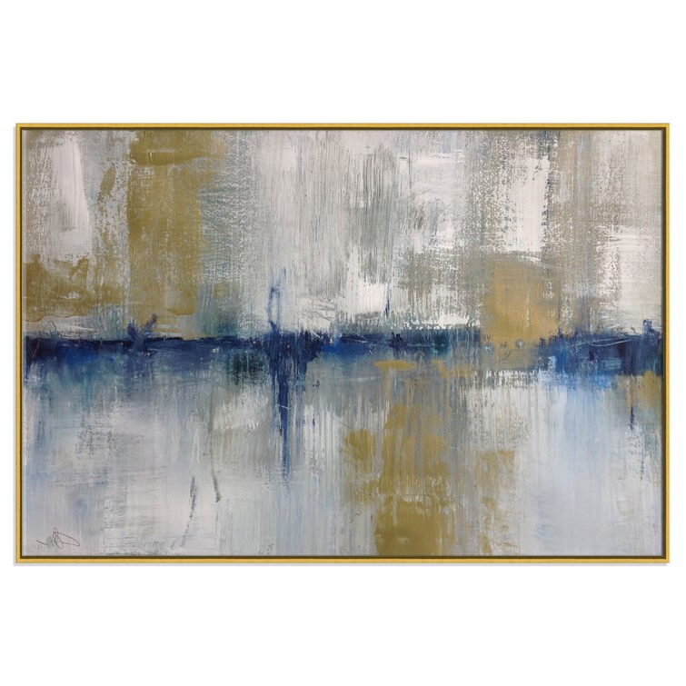 Recent Casafinearts Horizon In The Mist – Painting Print On With Regard To Vendramin Black  (View 4 of 15)