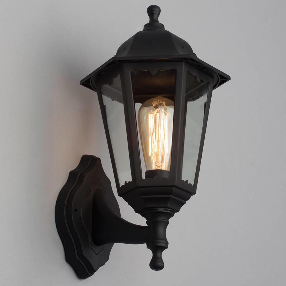 Recent Ciotti Black Outdoor Wall Lanterns In Neri Outdoor Polycarbonate Wall Lantern – Black (View 14 of 15)