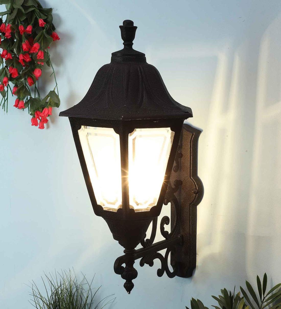 Recent Garneau Black Wall Lanterns Pertaining To Buy Black Aluminium Outdoor Wall Lightsuperscape (View 1 of 15)