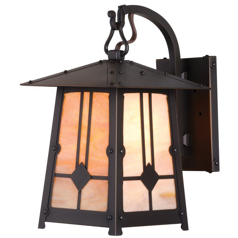 Recent Gillian Beveled Glass Outdoor Wall Lanterns With Regard To Cryal Stained Glass Outdoor Wall Lantern (View 4 of 15)