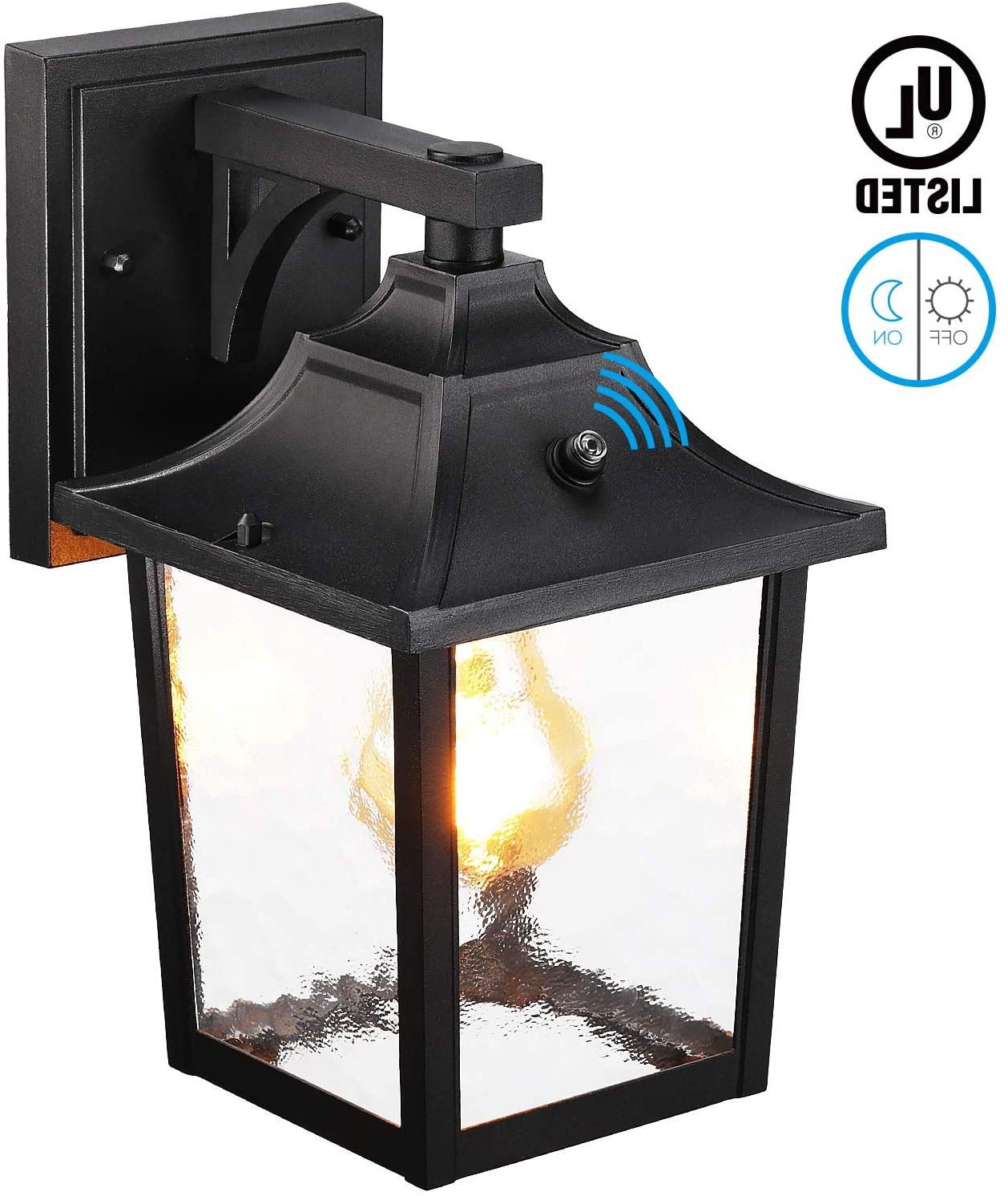 Recent Leonlite Dusk To Dawn Outdoor Wall Lantern, Wet Location Pertaining To Manteno Black Outdoor Wall Lanterns With Dusk To Dawn (View 4 of 15)