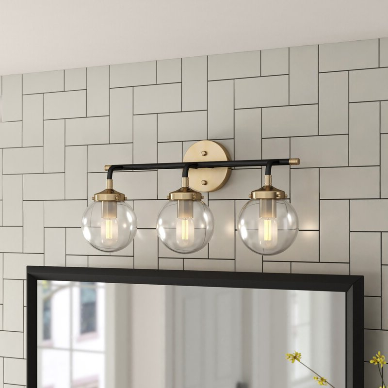 Rickey Matte Antique Black Wall Lanterns Intended For 2018 Foundstone™ Shontelle 3 Light Dimmable Matte Black/antique (View 12 of 15)