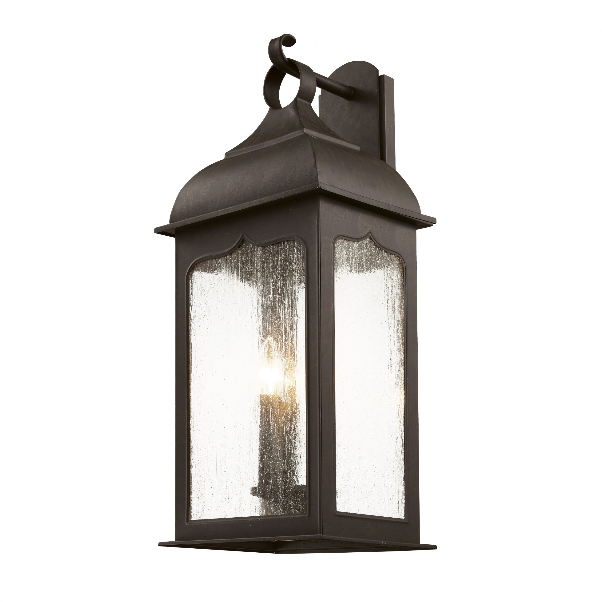 Robertson 2 – Bulb Seeded Glass Outdoor Wall Lanterns Inside Most Recently Released Seeded Masonic 3 Light Outdoor Wall Lantern (View 9 of 15)