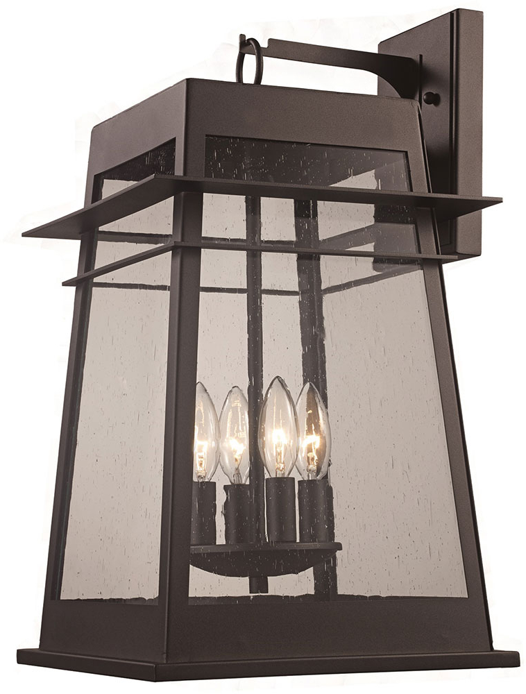 """Rockmeade Black 11'' H Outdoor Wall Lanterns For Trendy Trans Globe 51022 Bk Black Outdoor 11"""" Lighting Sconce (View 7 of 15)"""