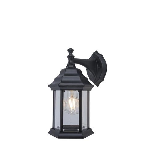 Rockmeade Black 11'' H Outdoor Wall Lanterns With Regard To 2018 Project Source  (View 2 of 15)