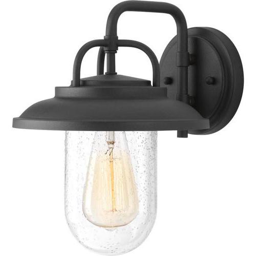 Rockmeade Black 11'' H Outdoor Wall Lanterns With Trendy Progress Lighting Beaufort  (View 5 of 15)