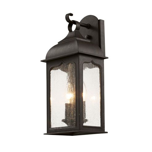 Rubbed Oil Bronze Seeded Masonic 17 Inch Wall Lantern With In Well Known Heinemann Rubbed Bronze Seeded Glass Outdoor Wall Lanterns (View 3 of 15)